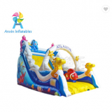 Durable pvc material Mermaid design inflatable arch slide for children