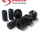 DIN916 alloy steel hex screw grub set screw socket cap screw in black