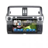Quad core!car dvd with mirror link/DVR/TPMS/OBD2 for 9 inch touch screen quad core 4.4 Android system TOYOTA PRADO 2014