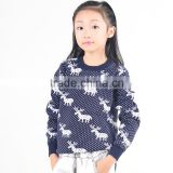 100% cotton tight pullover sweater 2016 christmas knit pullover for children