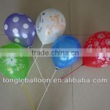 OEM latex beautiful balloons with patterns