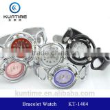 ladies crystal bracelet watch glass face bangle watches for girls silicone bracelet watch