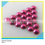 Hotfix Loose Aluminum Dome Studs Rose Brass Studs Iron on Half Round Studs