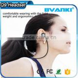 2016 new arrival Headphone for Running ,Q9 Wireless Headphone without wire stereo sport bluetooth headphone for mobile phone mp3                                                                                                         Supplier's Choice