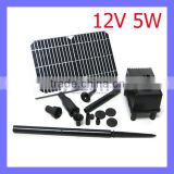 12V 5W White Solar Pump Mini Garden Irrigation Water Fountain Pump System