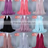Wholesale Plain Solid Color Polyester Cotton Knitted Jersey Muslim Hijab                                                                         Quality Choice