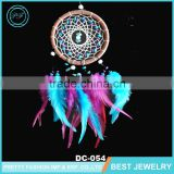 Beautiful Color Chicken Feather PU Leather Enwind Fashion Net Wood Beads and Rhinestone Dream Catcher