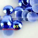 Sparkle Cobalt color lead free&nickel free rhinestuds dome, hotfix half-round pearls for DIY clothes punk jacket