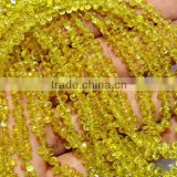 Natural Yellow Sapphire Faceted Drops Shape Beads 3.5X5MM Approx 16''Inch Good Quality On Wholesale Price.