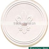 White blank absorbent ceramic stone matt coaster