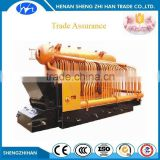 Trade Assurance security chain grate low pressure coal fired Fully Wet Back Three Pass Package steam Boiler