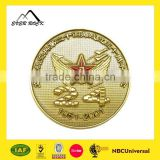 High Quality Custom Metal Souvenir Gold Plated Tungsten Coin