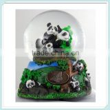 Home Decor Music Box Resin panda snow Water globe Crystal Ball