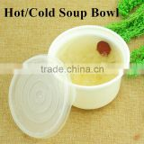 PP Disposable Microwave Oven Safe Plastic White Hot and Cold Soup Noodle Bowl for Soup packing