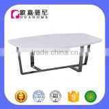 CJ0182 Black Titanize Stainless Leg & White Piano Paint Surface Coffee Table