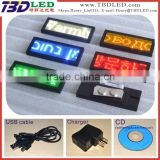 (Direct Manufacturer) LED name card Badge,SMD led displays,led mini board ,led running messge displays48x12 pixel