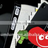 For iPhone 4s 4gs Clear Case Cover. Untransparent Black color