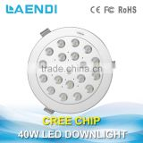 Patented Ra>82 High CRI 40W Fixed LED Downlight for showcase with CE RoHS Certification