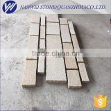 rusty paving stone in city construction project stone material of bush hammered finished