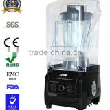 Professional 3HP Commercial smoothie blender with sound cover/ heavy duty fruit juice ice blender
