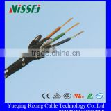 Braided Flexible Wire Three Cores Copper Conductor PVC Insulated Cotton Braided Textile Cable lighting lamp