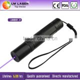 Handheld 100mw 405nm Wholesale Purple Laser Pointer Kit Violet Beam Light Money Detector with Rechargeable Battery and Charger