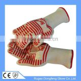 Custom Silicone Grip Heat Resistant Grill Gloves Cooking BBQ Gloves, Withstand Heat up to 662F                                                                         Quality Choice