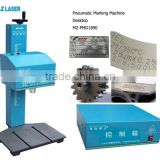 China Manufacturers Nameplate Metal Parts Machinery Serial NO. Dot Peen Desktop CNC Pneumatic Marking Machine