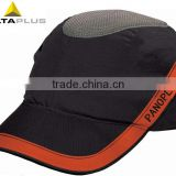 Impact-resistant bump cap in baseball style with PU-coated Safety Helmet