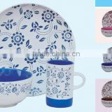 Factroy direct sales 3pcs handpainted ceramic breakfast set