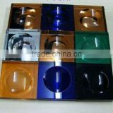 Ashtray Shape Decoration square Crystal Tile for Box decoration in KTV bar Wine Bar Theatre