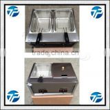 Industrial Mini Gas Fryer With Double Baskets/Deep Gas Fryer Machine