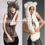 Hot Sale Winter Animal Hat Scarf Gloves Hood Scarf Animal Winter Hat                                                                         Quality Choice