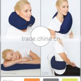 4-in-1 Convertible Travel Pillow for Side, Stomach and Back Sleepers. Lumbar Support                                                                         Quality Choice