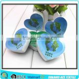 Heart shape Custom printed compressed magic towel with nice insert card