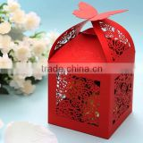Chinese Papercut Inspired Laser Cut Wedding Favor Candy Box