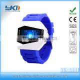 LED digital silicone plane head watch for students