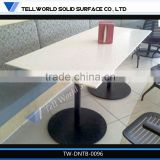 Shentop Stainless Steel Dinging Tables And Chairs Tempered Glass Tables Rectangle Dining Table Sets