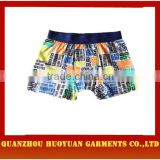 Huoyuan sexy colorful fashion underwear boxers for men underwear boxers cotton boxers collection