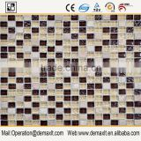 hot seller mixed brown and white irregular crystal pebble pattern swimming pool mosaic glass