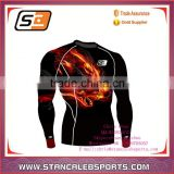 Compression oem dye sublimation t shirts tights skin gym exercise long sleeve t shirt for men
