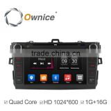 Ownice Quad core android 4.4 car DVD audio for Toyota Corolla 2007-2011 support TV Radio OBD wifi DAB mirror link canbus