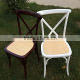 high quality rattan seat cross back chair for event