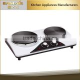Kitchen applience industrial electric stove 2 burner stainless hot plate with factory price