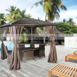 Hardtop Metal Gazebo Aluminium Shelter Pergola Square Shed Kiosk Paviliion Scree