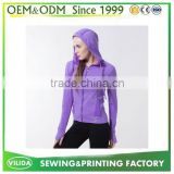 2016 New 100% Blank Polyester Purple Hoodies For Women Custom Dry Fit Sport Hoodies with Hood OEM