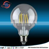 Hot G125 LED filament bulb high quality glass mask high luminou led lamp