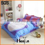 custom print 3D hand embroidery design bed sheet