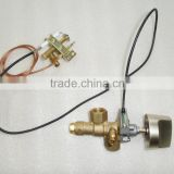 Good quality industrial automatic safety shut-off gas stove valve price with pilot fire port for gas kitchen equipment