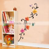 Flowers and Butterfly Removable Wall Decals Stickers Furniture Living Room Decor Mural Art Sticker JM8181